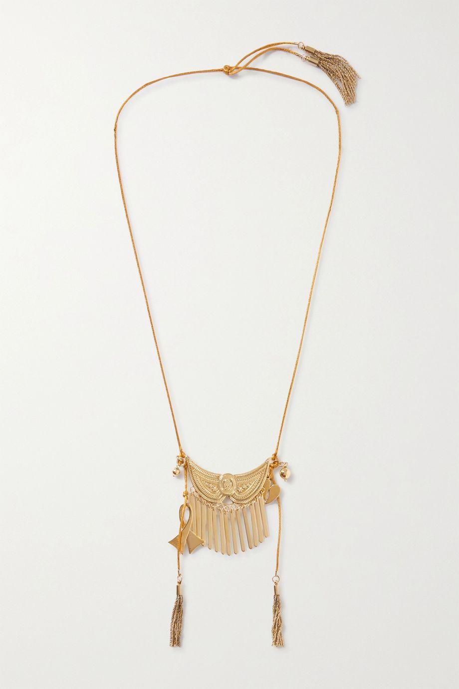 Etro Tasseled gold-tone necklace