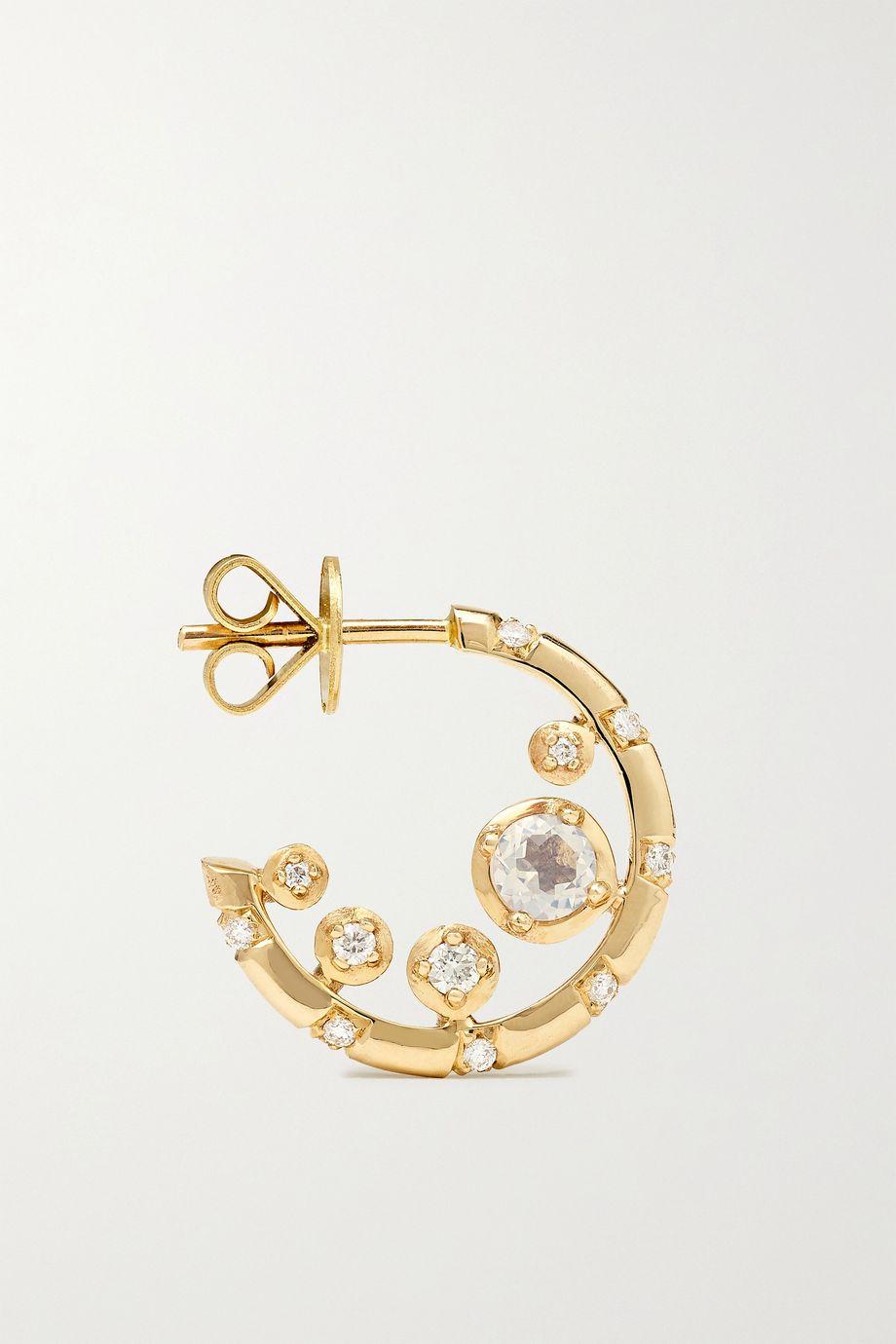 Alice Cicolini Bubble Kimono Nibble 14-karat gold, diamond and quartz earrings