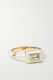 Alice Cicolini 14-karat gold, enamel and sapphire ring