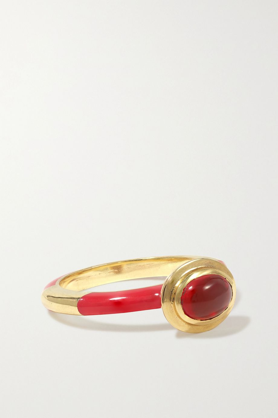 Alice Cicolini Candy 14-karat gold, enamel and opal ring