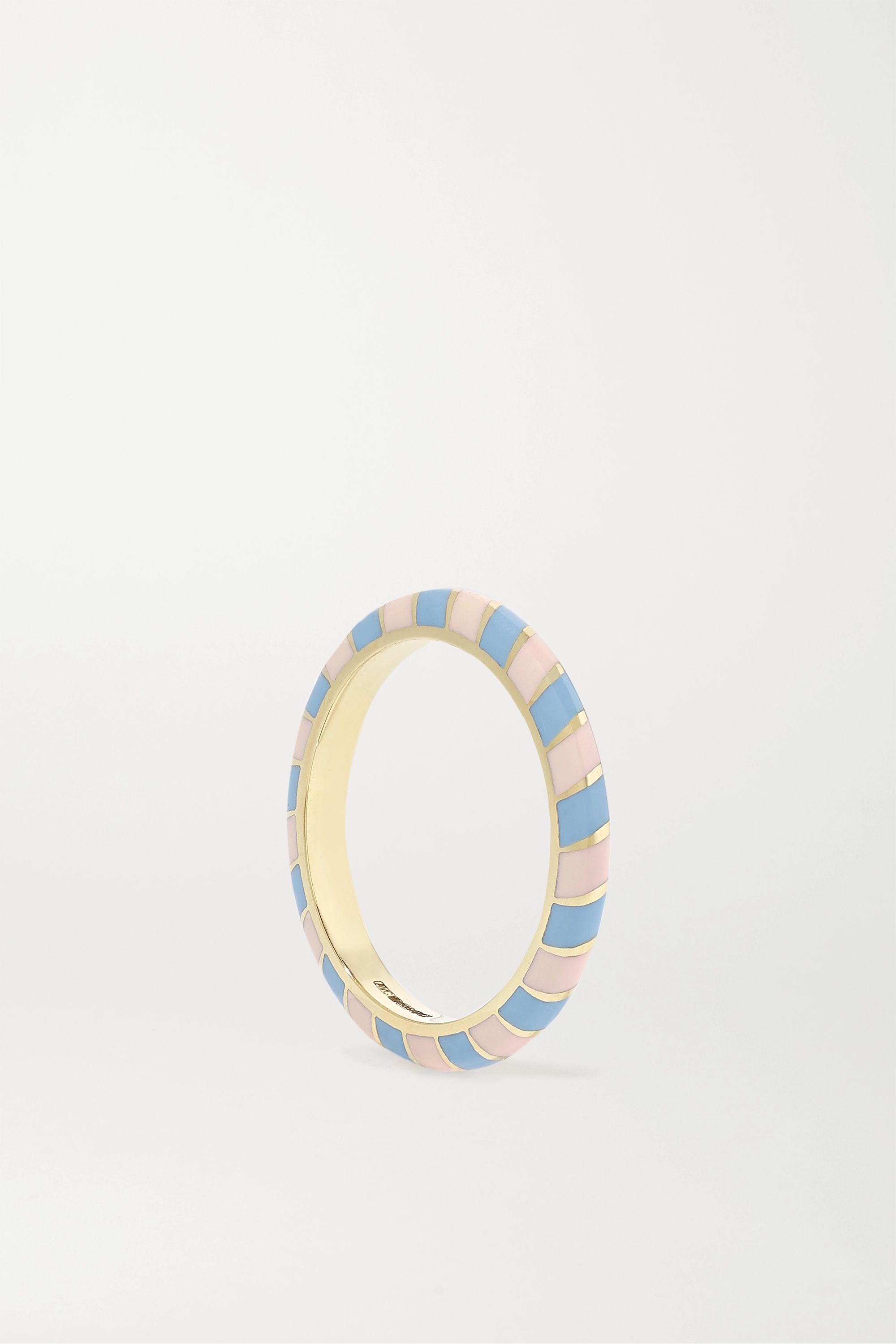 Alice Cicolini Memphis Candy 14-karat gold and enamel ring