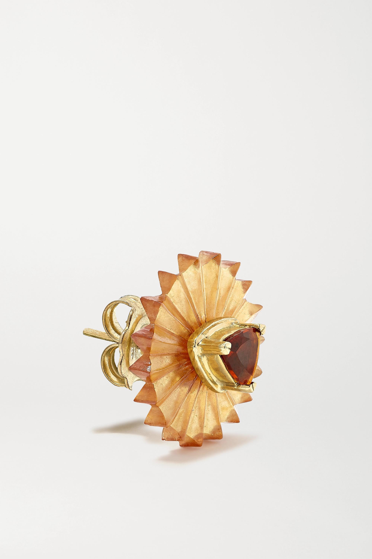 Alice Cicolini Summer Snow 9-karat gold, citrine and garnet earrings