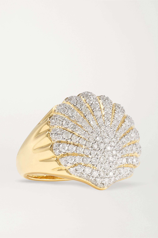 Yvonne Léon Ring aus 18 Karat Gold mit Diamanten