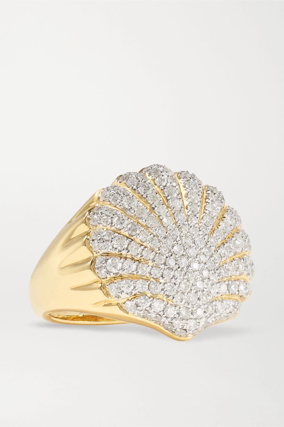 Yvonne Léon 18-karat gold diamond ring