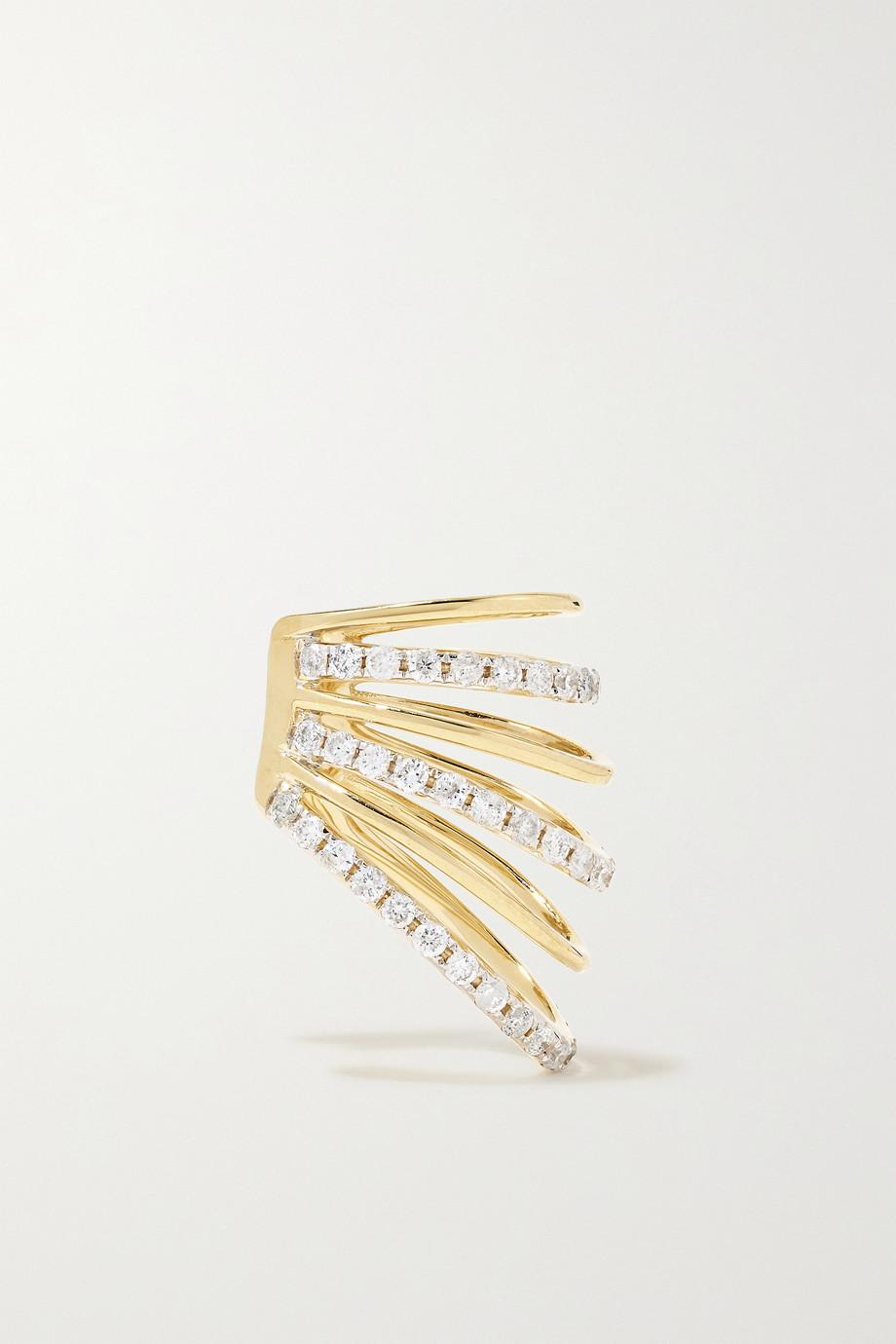 Yvonne Léon Bijou d'oreille en or 18carats et diamants