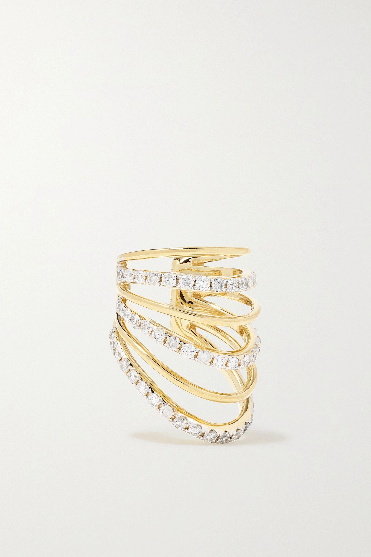 Yvonne Léon Ear Cuff aus 18 Karat Gold mit Diamanten