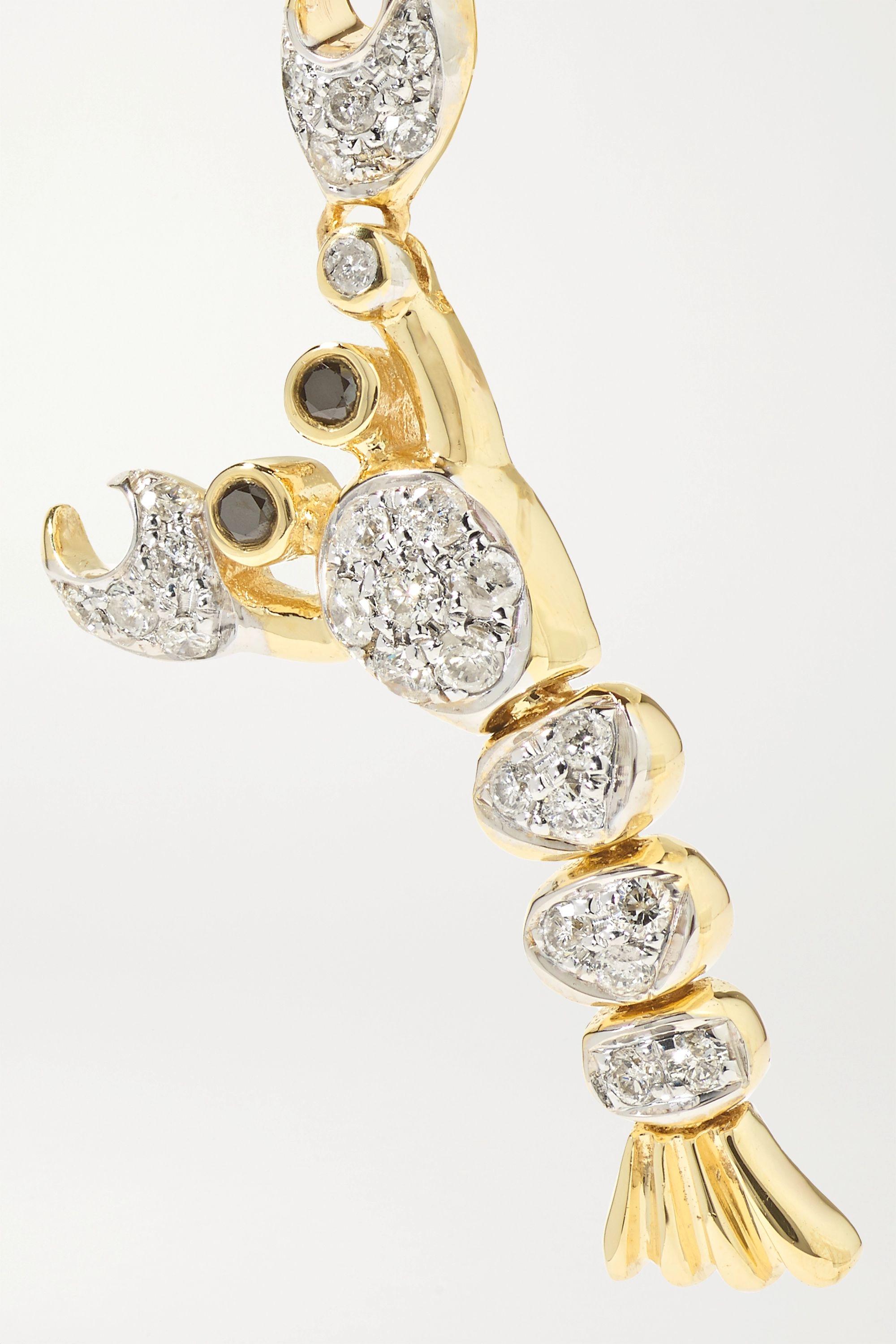 Yvonne Léon Ohrring aus 9 Karat Gold mit Diamanten