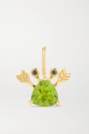 Yvonne Léon 18-karat gold, peridot and blackened diamond earring