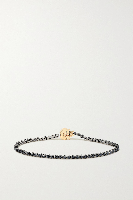 Yvonne Léon Armband aus geschwärztem 18 Karat Weiß- und Gelbgold mit Diamanten