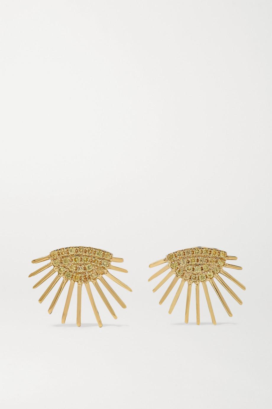 Yvonne Léon 18-karat gold sapphire earrings
