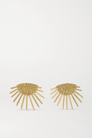 Yvonne Léon 18-karat gold sapphire earrings