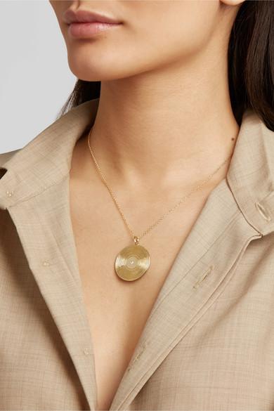 9 Karat Gold Diamond Necklace by Yvonne Léon