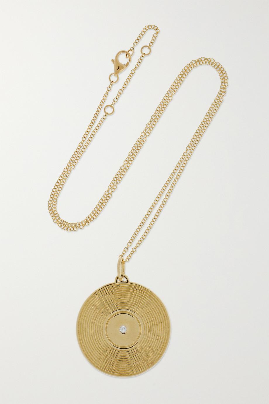 Yvonne Léon 9-karat gold diamond necklace