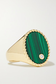 Yvonne Léon 9-karat gold, malachite and diamond ring