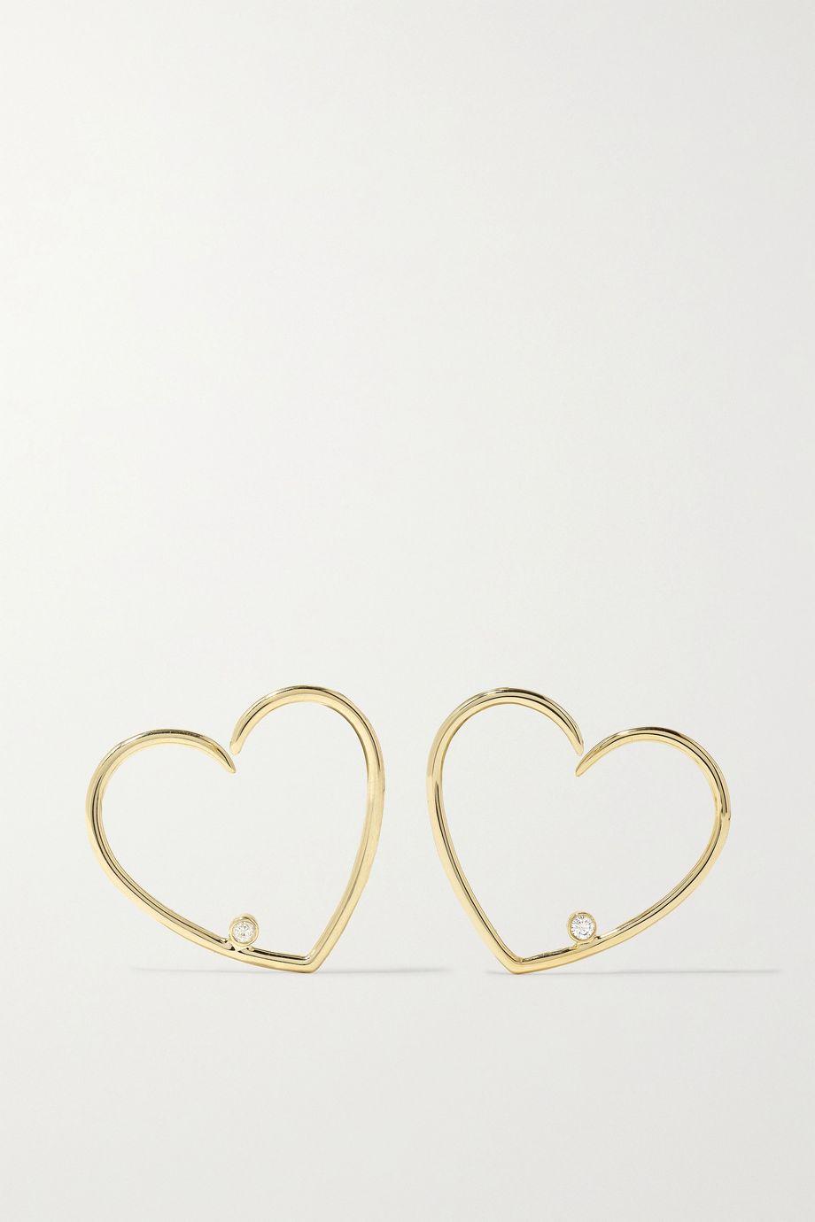 Yvonne Léon 9-karat gold diamond earrings