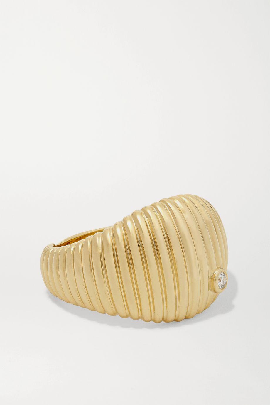 Yvonne Léon 9-karat gold diamond ring