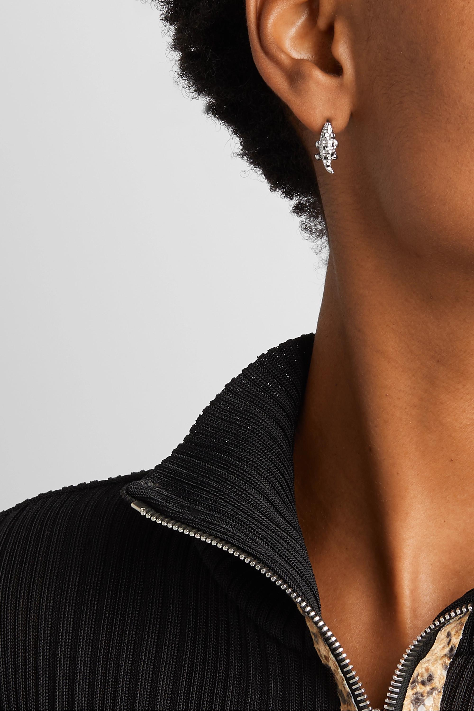 Yvonne Léon Ohrring aus 9 Karat Weißgold mit schwarzen Diamanten