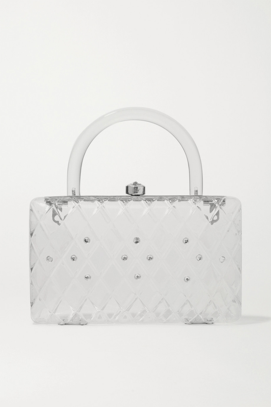 HVN Rio crystal-embellished acrylic tote