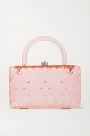 Rio crystal-embellished acrylic tote