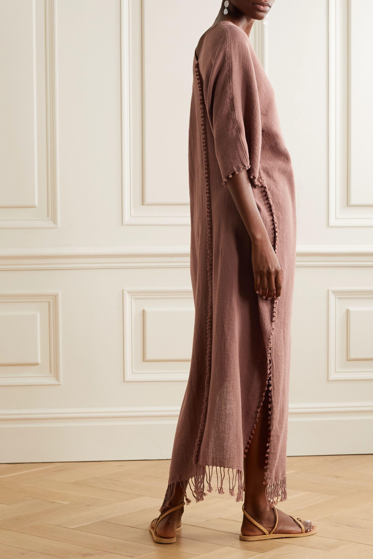 Caravana Saas fringed cotton-gauze maxi dress