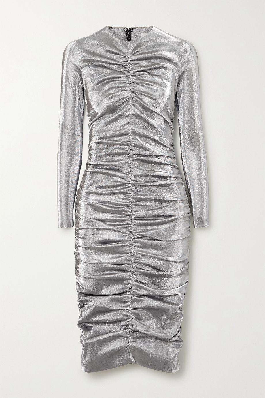 AREA Ruched Lurex dress
