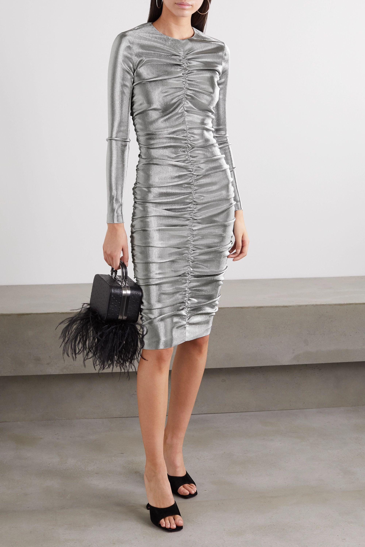 Kleid aus gerafftem Lurex®