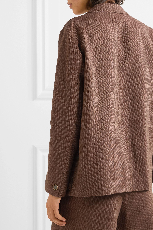 LVIR Linen and cotton-blend piqué blazer