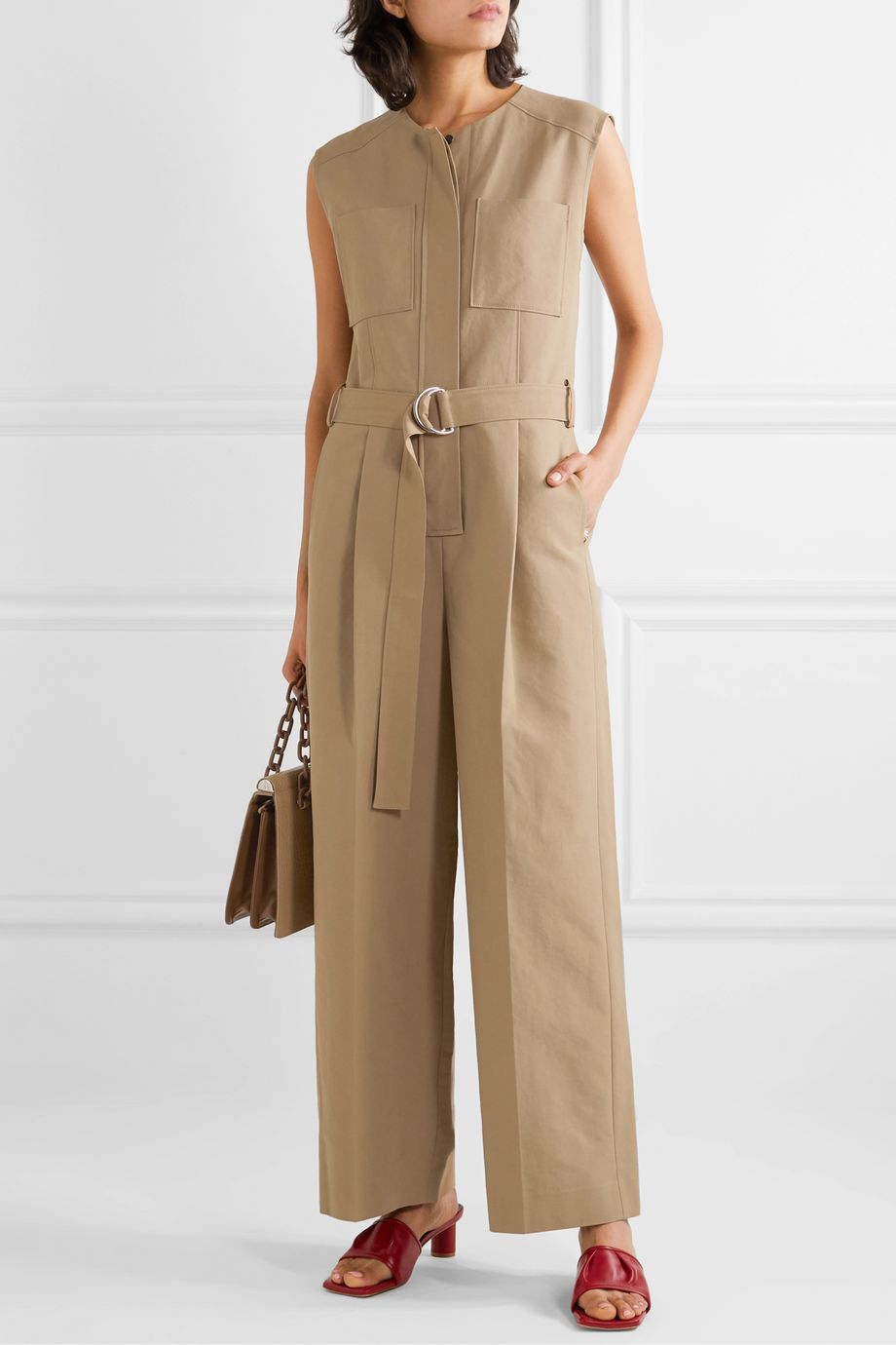 LVIR Belted cotton jumpsuit