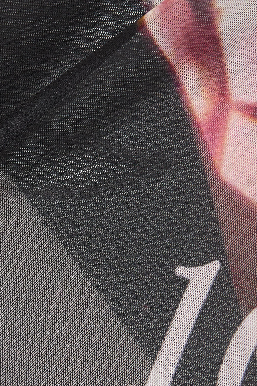 16ARLINGTON Ashley printed stretch-tulle turtleneck top