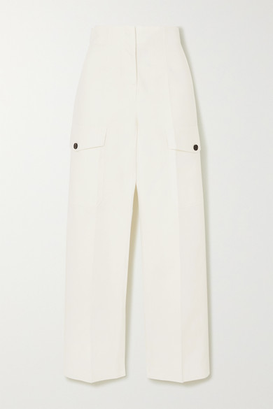 Cropped Cotton Straight Leg Pants by Lvir