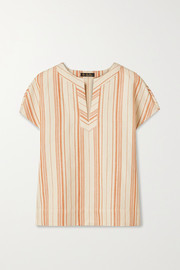 Loro Piana Striped cotton-blend top