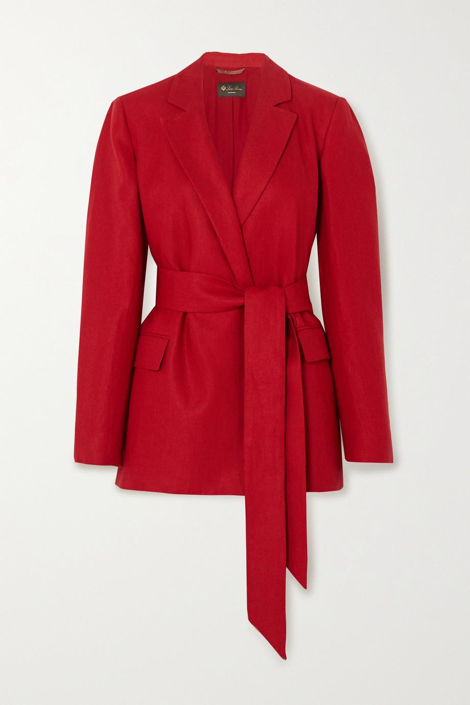 Loro Piana Belted linen blazer