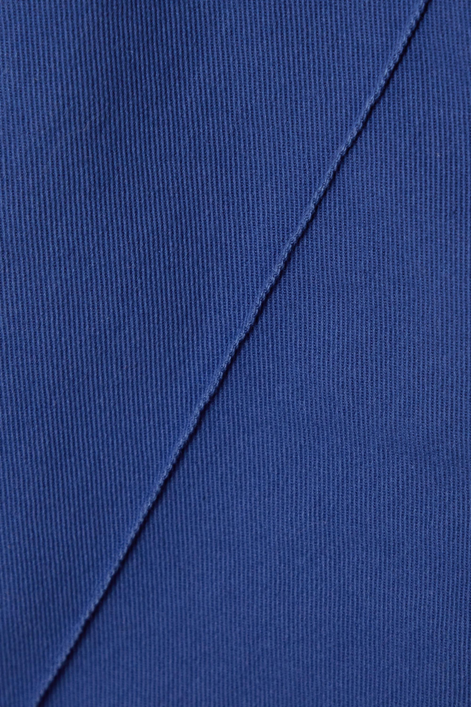 Blue Stretch-cotton Twill Slim-leg Pants | Loro Piana