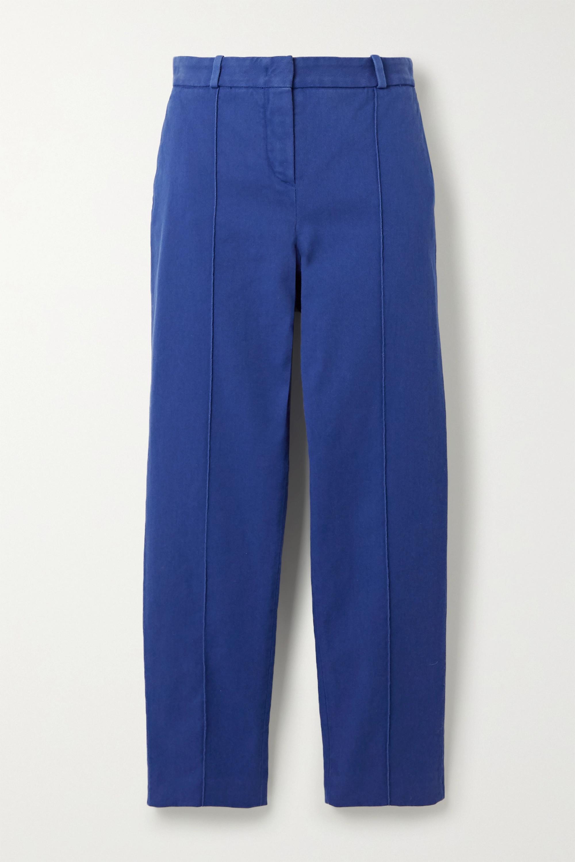 Loro Piana Pantalon slim en serge de coton stretch