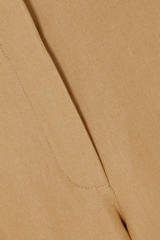 Beige Linen Wide-leg Pants | Loro Piana
