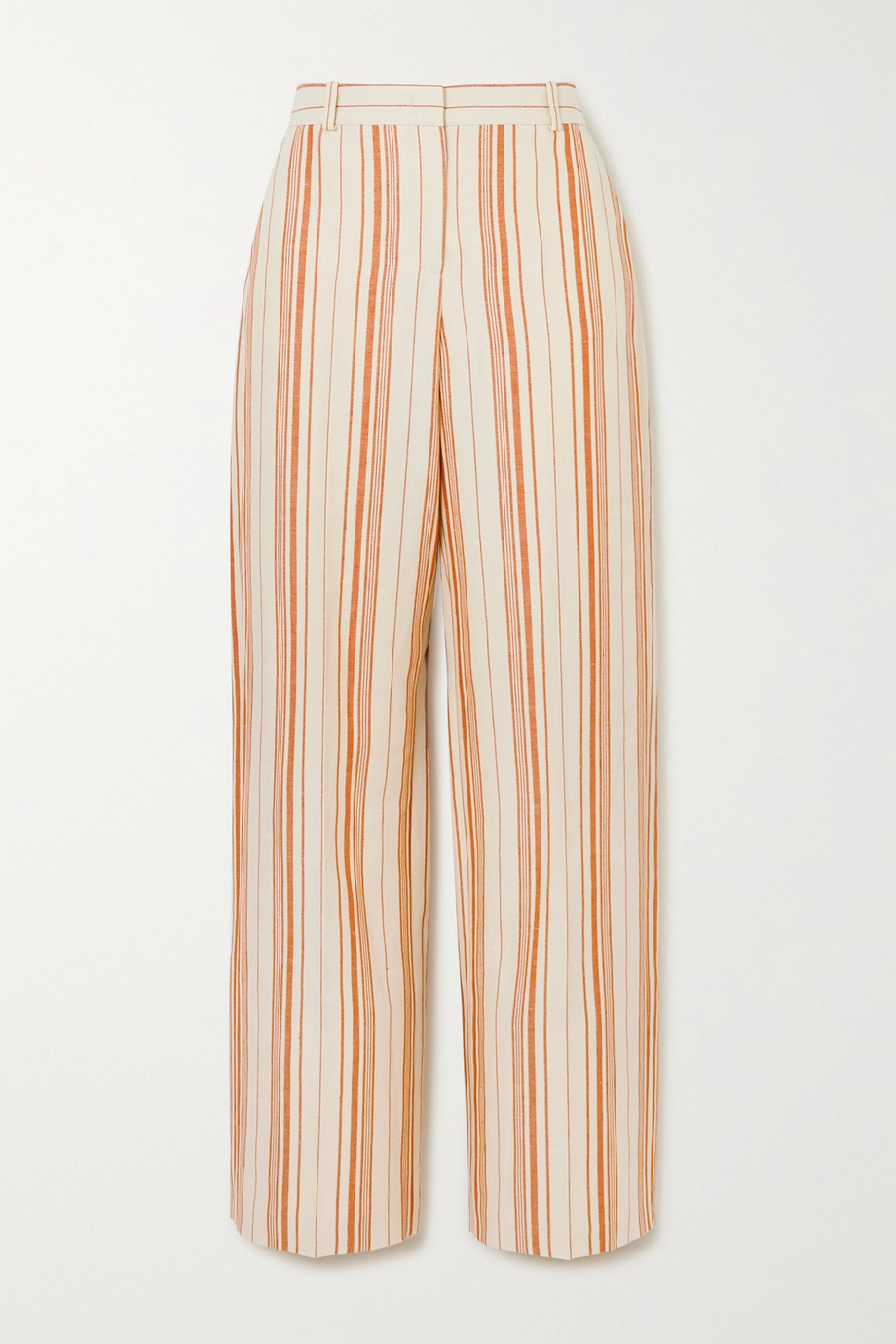 Loro Piana Striped cotton-blend straight-leg pants