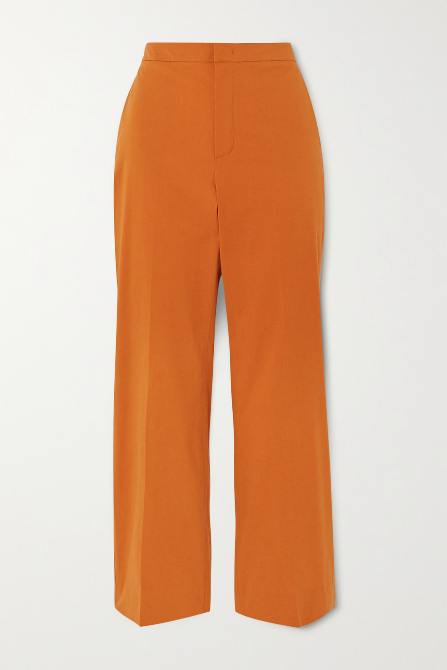 Loro Piana Cotton-blend twill straight leg pants