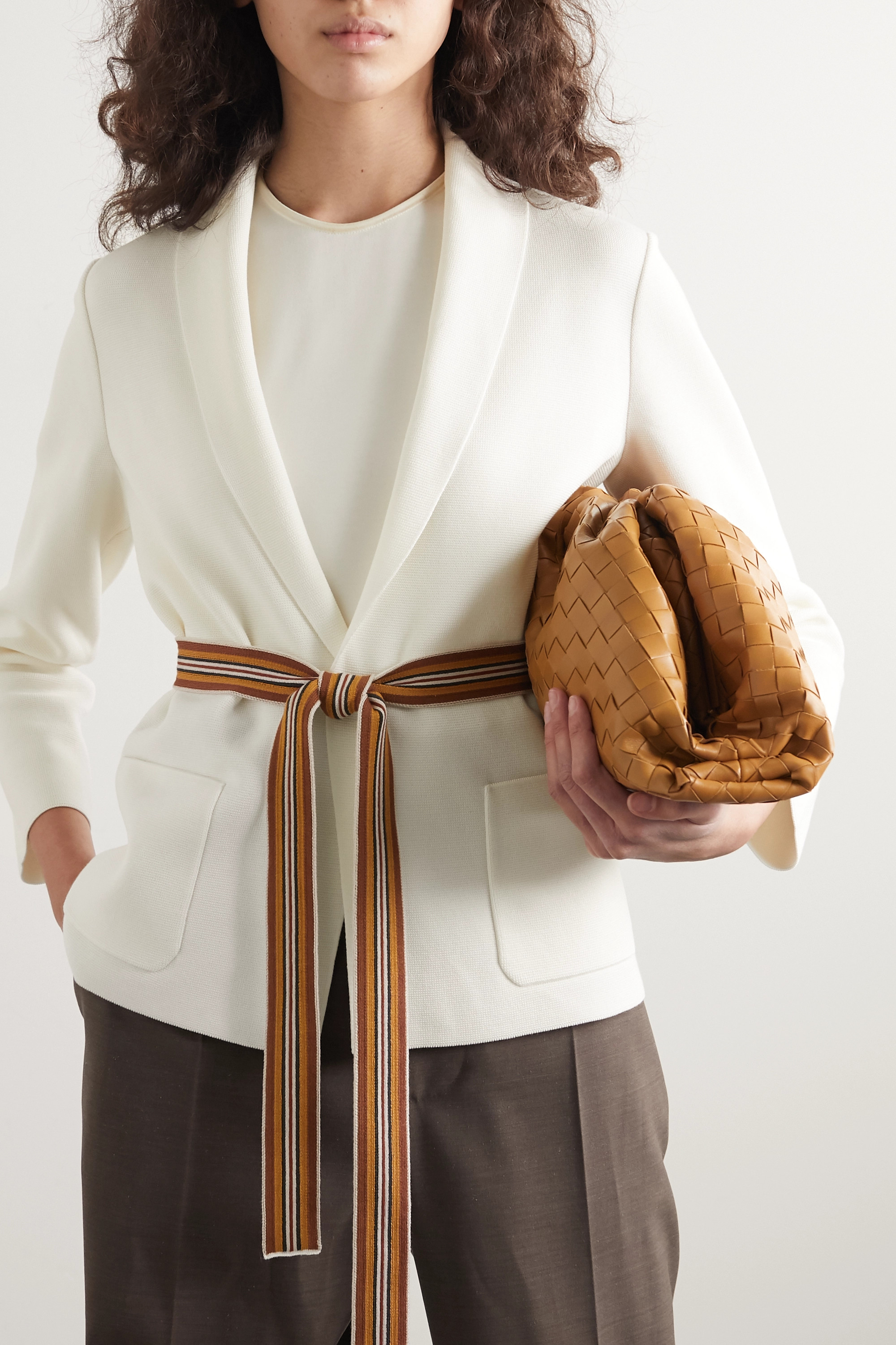 Loro Piana Belted silk and cotton-blend cardigan