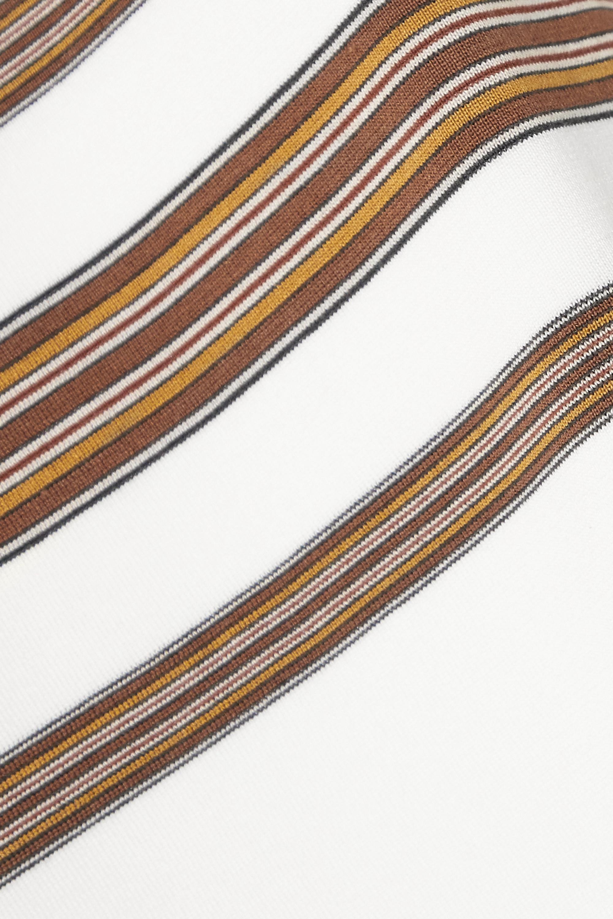Loro Piana Striped silk and cotton-blend tank
