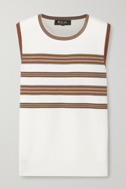 Loro Piana Striped silk and cotton-blend tank