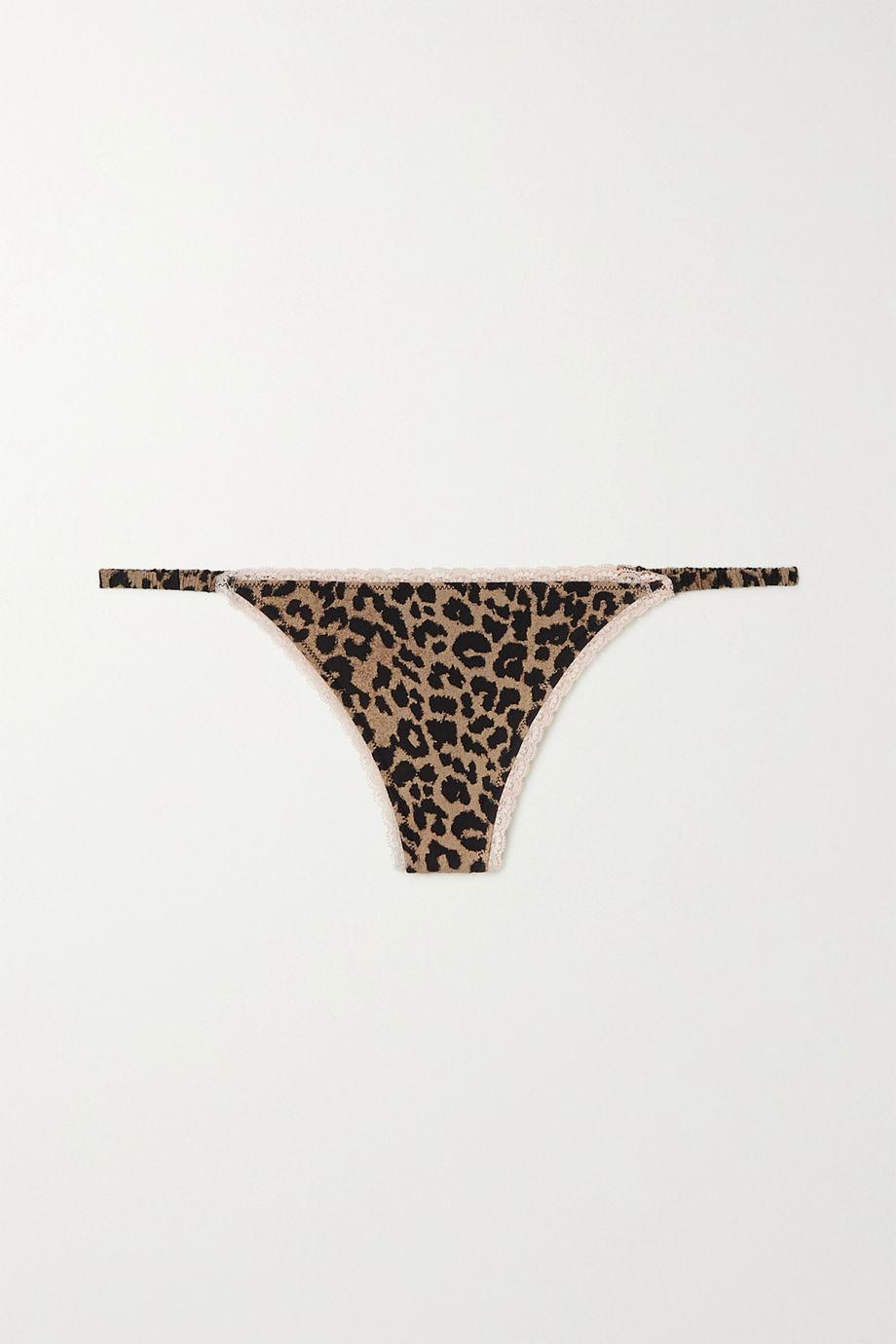 Love Stories Roomie leopard-print stretch-jersey thong