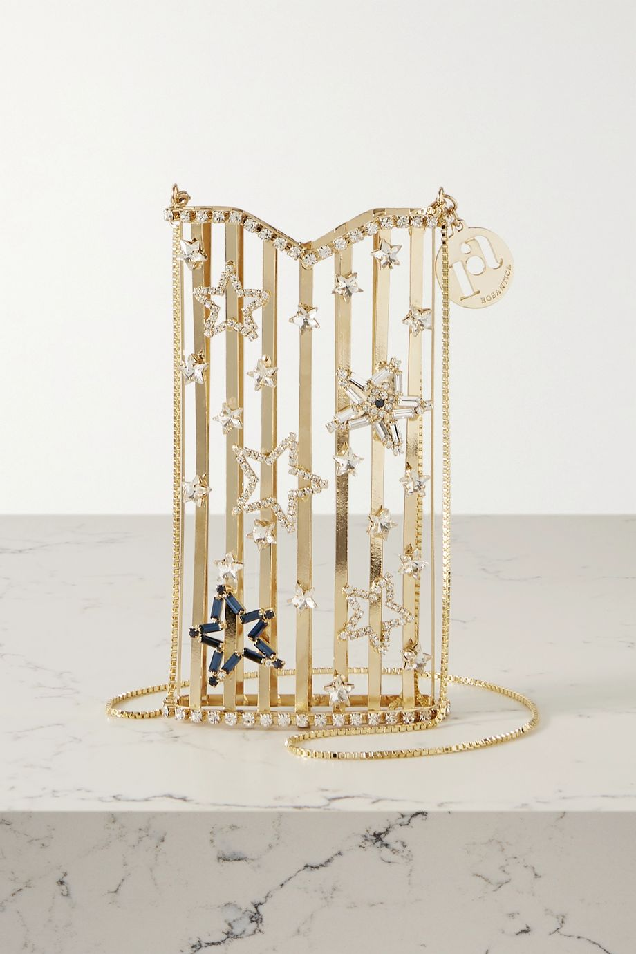 Rosantica Oasis Stelle crystal-embellished gold-tone shoulder bag