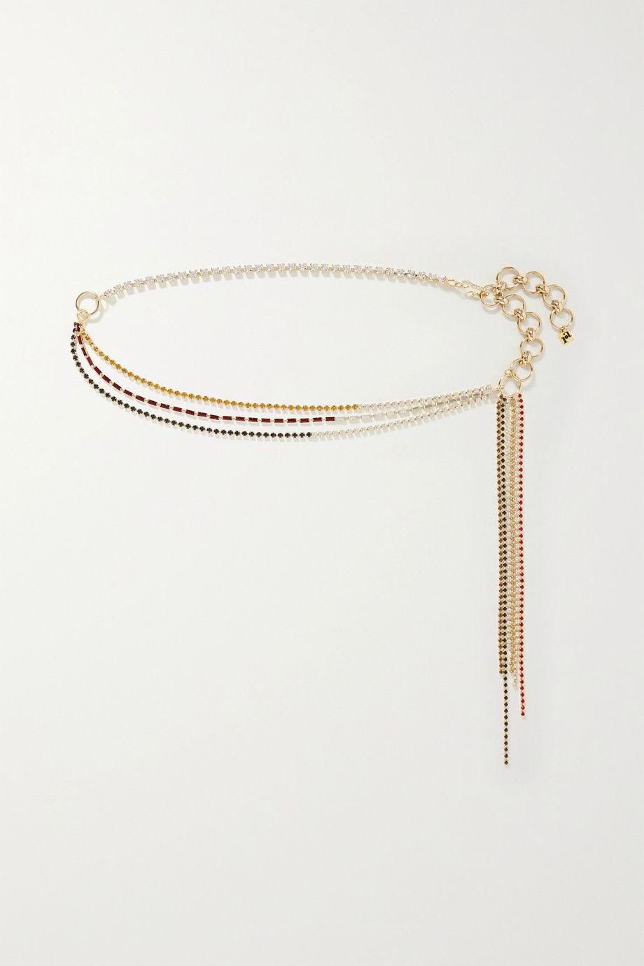 Rosantica Iside crystal-embellished gold-tone belt