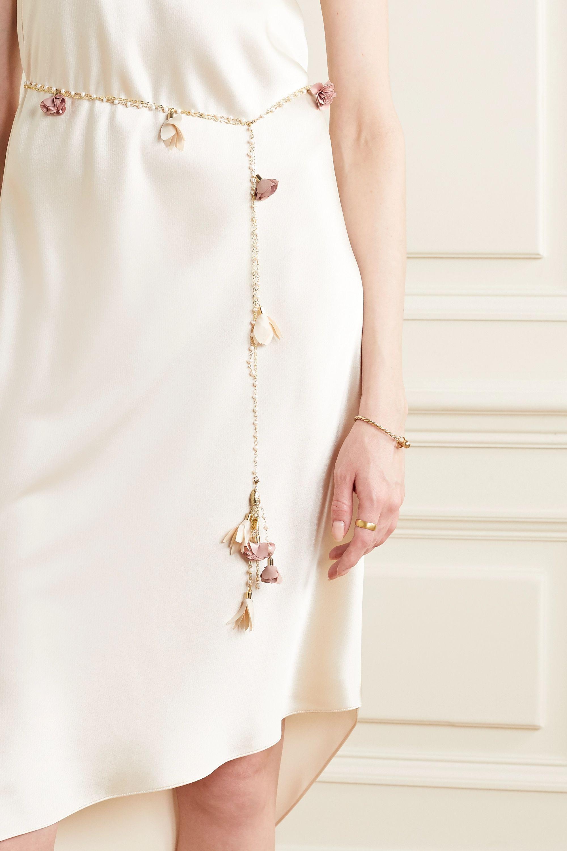 Rosantica Sentiero gold-tone, pearl and chiffon belt