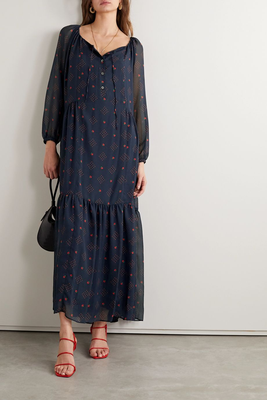 Paul & Joe Chaland floral-print jacquard maxi dress