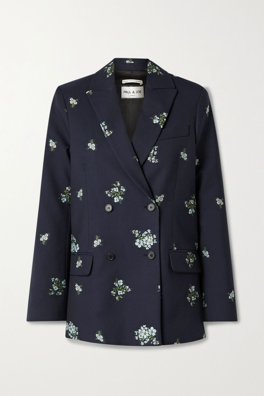 Paul & Joe Costa Rica double-breasted cotton-blend floral-jacquard blazer