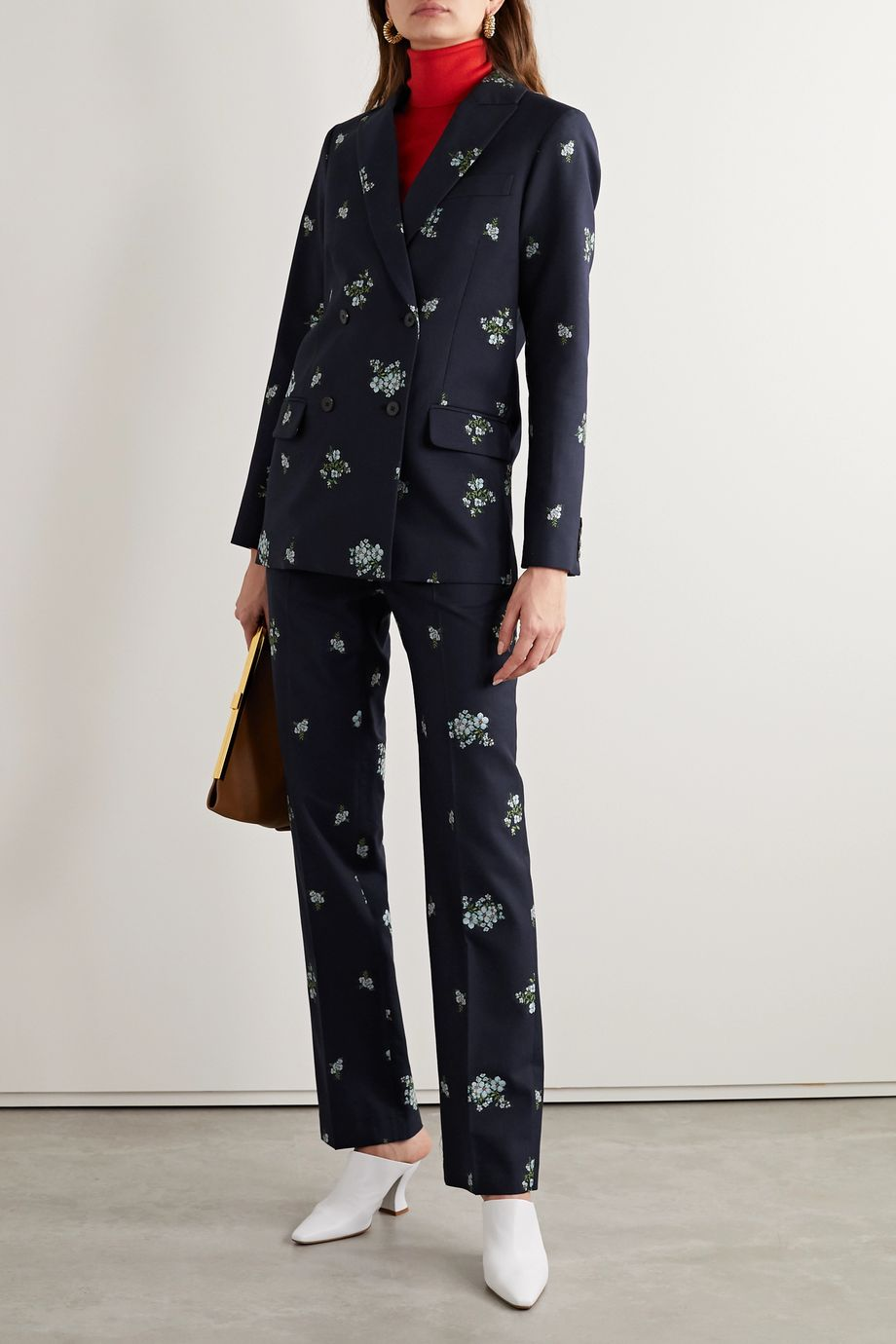 Paul & Joe Cotton-blend floral-jacquard straight-leg pants