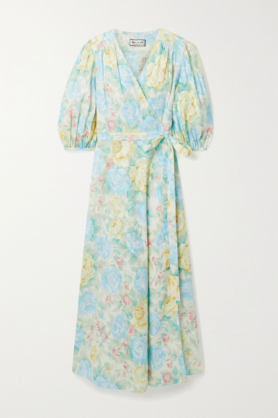 Paul & Joe Floral-print fil coupé cotton midi wrap dress