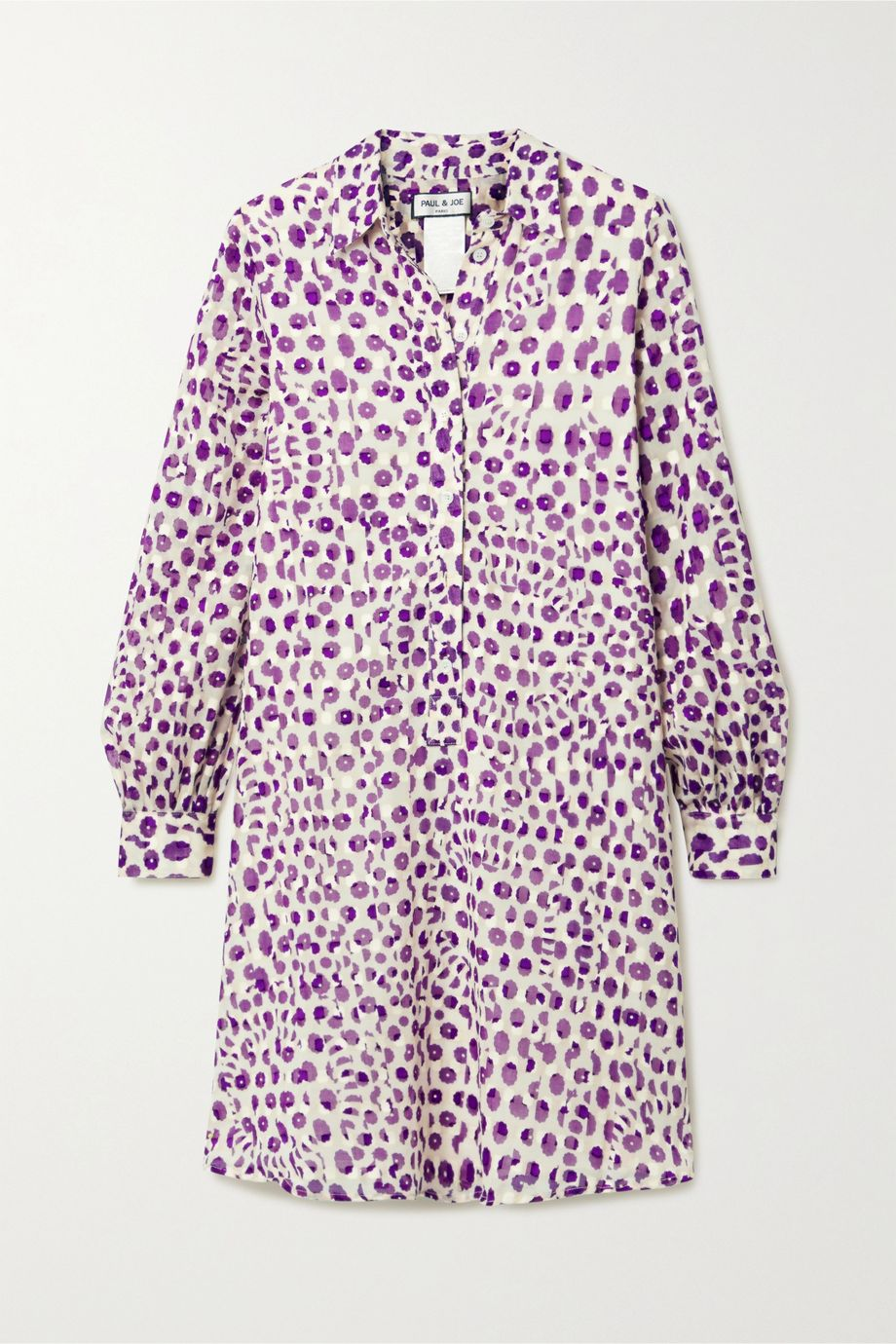 Paul & Joe Floral-print fil coupé cotton dress