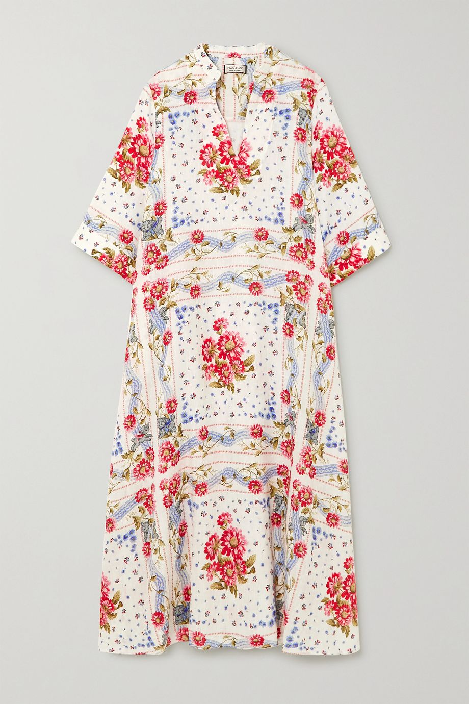 Paul & Joe Valdaoste floral-print linen midi dress